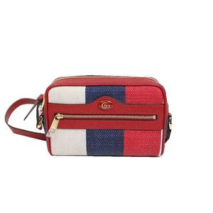Gucci GUCCI Off Dia Mini Shoulder Bag 517350 Linen Canvas Red x Blue White