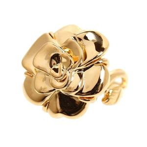 CHANEL Camellia Collection Ring K18YG No. 15 Jewelry Finished