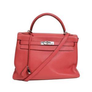 HERMES Kerry 32 Trillon Clemente □ N ブ Bougainvillea Silver hardware Handbag