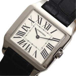 Cartier Santos Dumont SM W2009451 Quartz WG solid leather belt watch