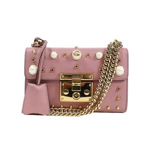 Gucci GUCCI Padlock Chain Shoulder Bag 432182 Pink Women