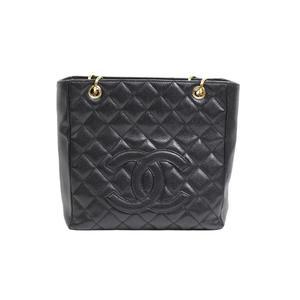 Chanel CHANEL Matrasse Tote Bag Caviar Skin Black Women