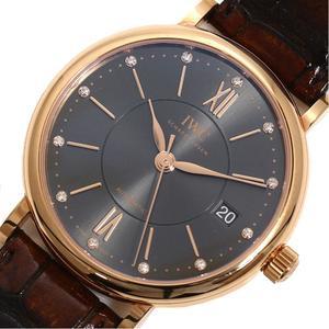 IWC Portofino Automatic 37 IW458106 RG Solid Diamond Gray Mens Watch