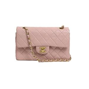 Chanel CHANEL Matrasse W flap chain shoulder bag Lambskin Pink Women
