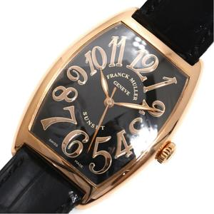 FRANCK MULLER Tono Carbex Sunset 2852SC Automatic PG No Solid Black Mens Watch