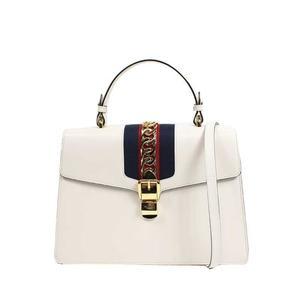 Gucci GUCCI Silvi 2WAY bag 431665 leather white shoulder