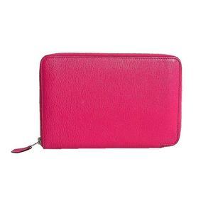 HERMES azap combine shave N engraving Rose Tyrian long wallet women