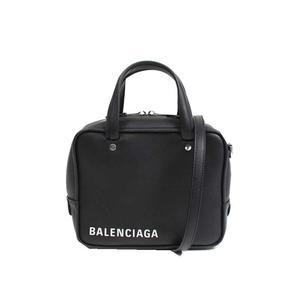 Balenciaga BALENCIAGA Triangle Square X S 528544 calf black handbag