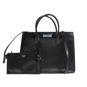 Prada PRADA Dual bag 2WAY 1BA176 calf NERO ASTRALE Women