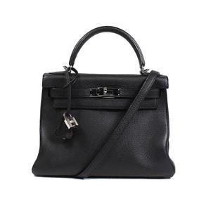 HERMES Kerry 28 Trillon Clements Noir □ M ハ ン ド バ ッ グ Handbag Women