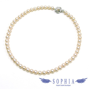 Silver pearl necklace 7-7.5 mm 56 tablets 20190402