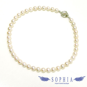 Silver pearl necklace 8.5-9 mm 43 tablets 20190402