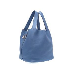 Hermes Picotan Lock GM Trillon Clements Blue Brighton Silver Hardware X Engraved (made in 2016) Handbag Bag 0218 HERMES