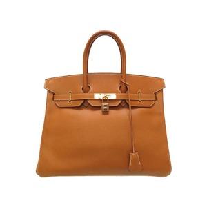 Hermes Birkin 35 Ardennes Gold hardware □ B stamped Handbag Bag Brown 0227 HERMES