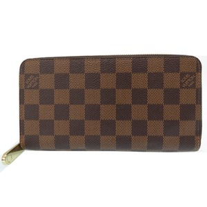 Louis Vuitton New Damier Round zipper Long wallet N41661 Brown LV 0013 LOUIS VUITTON Unisex