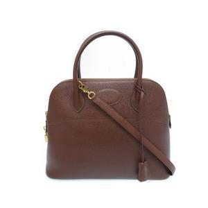 Hermes Bored 31 Kush Bell Brown Gold hardware ○ X engraved handbag bag 0097 HERMES