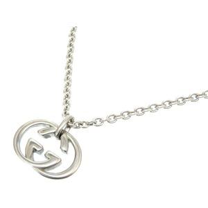 Gucci interlocking GG motif silver 925 necklace unisex men's 0108 GUCCI