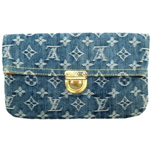 Louis Vuitton Monogram Denim Pochette Pratt Blue M95007 Clutch Bag LV 0022 LOUIS VUITTON