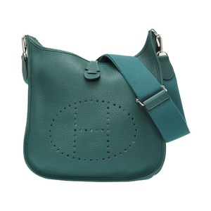 Hermes Evelyn 3 PM Trois Trillon Clemence Malachite Shoulder bag □ Q stamped 0161 HERMES