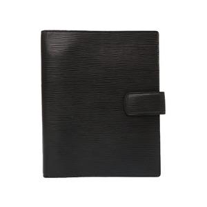 Louis Vuitton Epi Agenda GM Black Solid Silver Hardware R20212 Notebook Cover LV 0044 LOUIS VUITTON Men