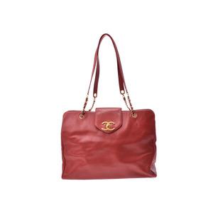 シャネル(Chanel) シャネル スーパーモデルバッグ 赤 G金具 レディース キャビアスキン バッグ Bランク CHANEL 中古 銀蔵