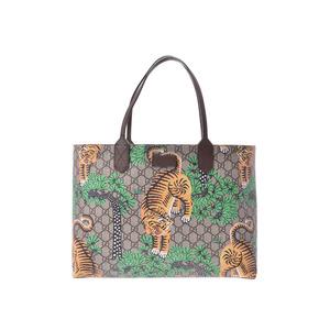 Gucci GG Supreme Tote Bag Bengal Tiger Beige / Tea Men Women PVC AB Rank GUCCI Used Ginzo