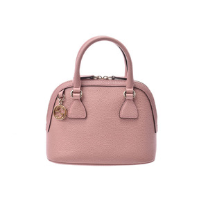 Gucci 2WAY mini-handbag pink ladies calf outlet new same beauty product GUCCI with strap used Ginzo