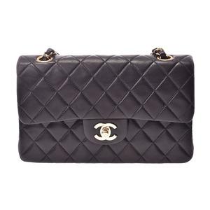 シャネル(Chanel) シャネル マトラッセ チェーンショルダーバッグ 二重蓋 黒 G金具 レディース ラムスキン ABランク CHANEL 箱 ギャラ 中古 銀蔵