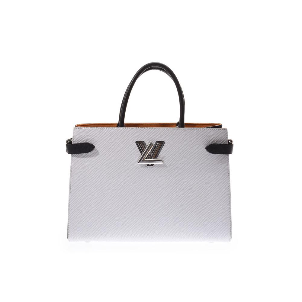 7544ea381e0d Louis Vuitton Epi Twist Tote White   Black M53396 Ladies Genuine Leather  2WAY Bag AB Rank LOUIS VUITTON Used Ginzo