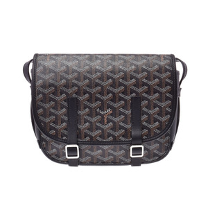 Goyard Belvedere PM Black Women's PVC / Leather Shoulder bag A rank GOYARD Used Ginzo