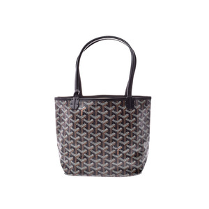 Goyard Saint-Louis Junior Black Ladies PVC Handbag New Item Beauty Product GOYARD with pouch Used Ginzo
