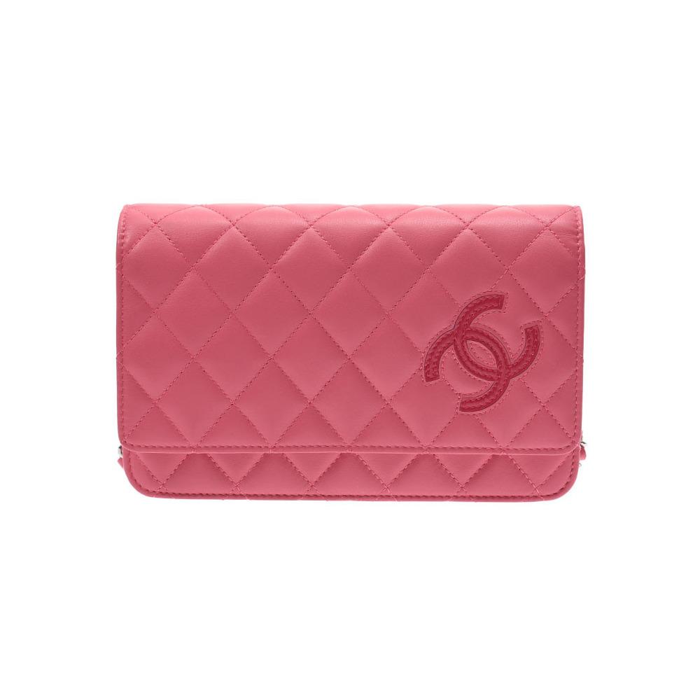 6378e3abb233 Chanel Cambon Line Chain Wallet Pink Women's Lambskin Purse New Dope Beauty  Product CHANEL Box Gallery