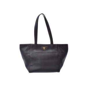 Prada tote bag black BR 5092 Women's calf A rank PRADA Gala Used Ginzo