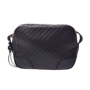 Gucci Micro Guccisima Shoulder Bag Black Ladies Leather Sale Product AB Rank GUCCI Used Ginzo
