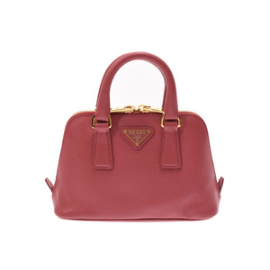 Prada 2WAY mini handbag Tamaris BL0851 Ladies Safiano Shindo beauty product PRADA with strap Used Ginzo