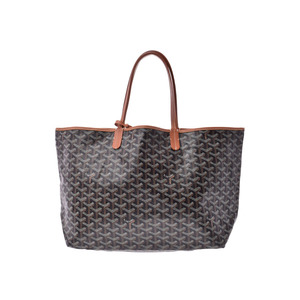 Goyard San Luis PM Black / Tea Ladies Men's PVC Tote Bag B Rank GOYARD Pouch with Used Ginzo