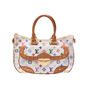 Louis Vuitton multi-color Rita white M40125 Women's genuine leather 2WAY handbag B rank LOUIS VUITTON used Ginzo