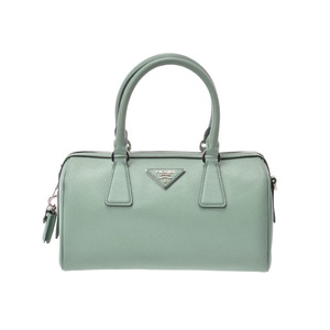 Prada 2WAY handbags Aquamarine 1BB845 Ladies Safiano A rank good product PRADA Galla with strap Used Ginzo