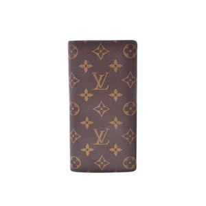 ルイ・ヴィトン(Louis Vuitton) ルイヴィトン モノグラム ポルトフォイユ ブラザ 旧型 ブラウン M66540 メンズ レディース 本革 長財布 Bランク LOUIS VUITTON 中古 銀蔵
