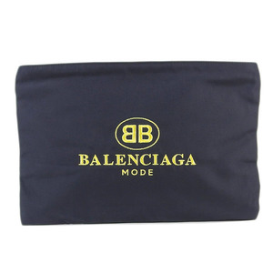 Genuine BALENCIA GA Balenciaga Canvas Clutch Bag 紺 Model No .: 4459745 Leather