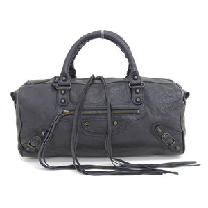 Genuine BALENCIAGA Balenciaga The Zizy 2WAY Handbag Black Model: 128523 Bag Leather