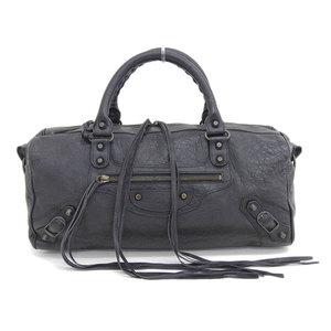 Genuine BALENCIAGA Balenciaga The Zizy 2WAY Handbag Black Model: 128523 Bag Leather