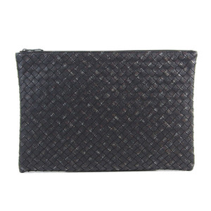 Genuine Bottega Veneta Intrecherto Clutch Bag Black Model: B07626548S Leather
