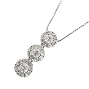 389532c19 Genuine K18 Diamond 1.00ct Pendant Necklace 5.1g