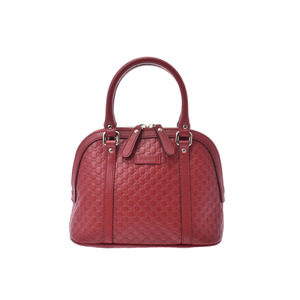 Gucci Micro Guccisima 2WAY Handbag Red Outlet Women's Leather A rank good product GUCCI with strap Used Ginzo