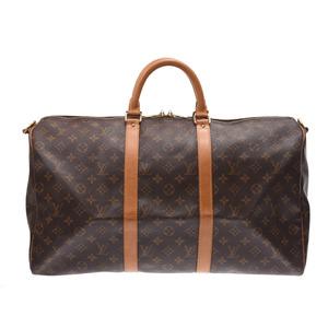 ルイ・ヴィトン(Louis Vuitton) ルイヴィトン モノグラム キーポル50 バンドリエール ブラウン M41416 メンズ レディース 本革 ボストンバッグ Bランク LOUIS VUITTON ストラップ付 中古 銀蔵