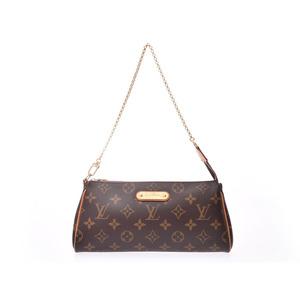Louis Vuitton Monogram Eva Brown M95567 Women's Genuine Leather 2WAY bag B rank LOUIS VUITTON with strap Used Ginzo