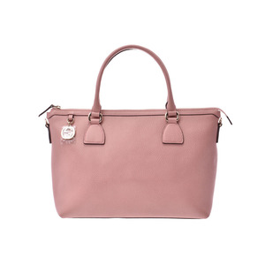 Gucci 2WAY Tote Bag Pink Ladies Calf Outlet New Docomo Product GUCCI with strap Used Ginzo
