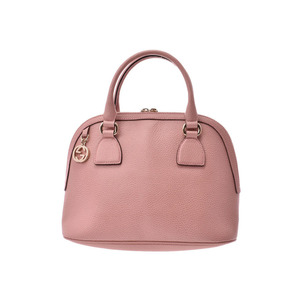 Gucci 2WAY handbag Pink Ladies Calf A rank good product GUCCI with strap Used Ginzo