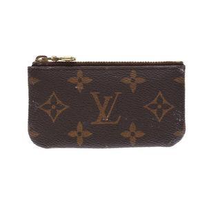 Louis Vuitton Monogram Pochette Cle Brown M62650 Mens Womens Genuine Leather Coin Case B Rank LOUIS VUITTON Used Ginzo